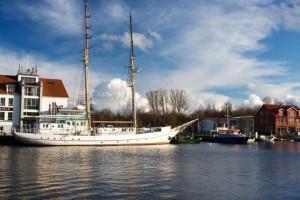 An Bord beim Segelschulschiff Greif