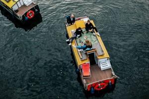 Bootstour zum Tempelhofer Hafen Berlin